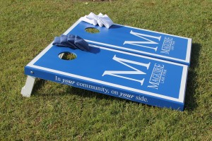 Maguire Law Cornhole Boards Side