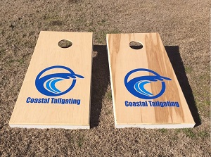 Rent our cornhole boards