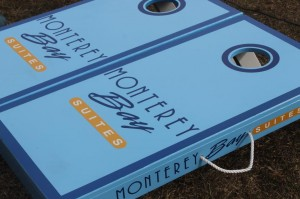 Beautiful Cornhole Boards for Monterey Bay Suites