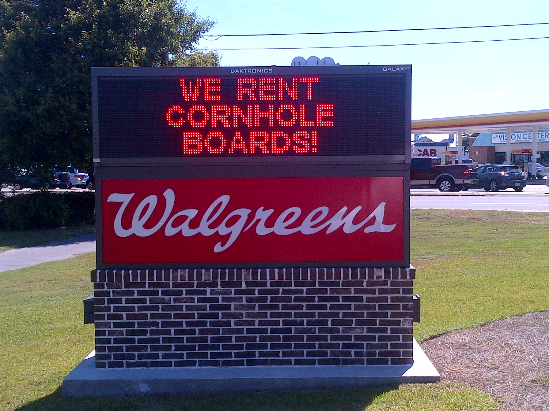 We rent conrhole boards!