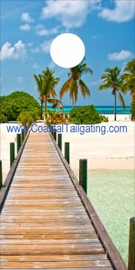 Coastal Tailgating- Beach Scenes 2 pier sign