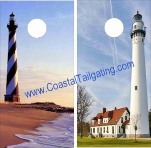 Coastal Tailgating- North Carolina lighthouse sign