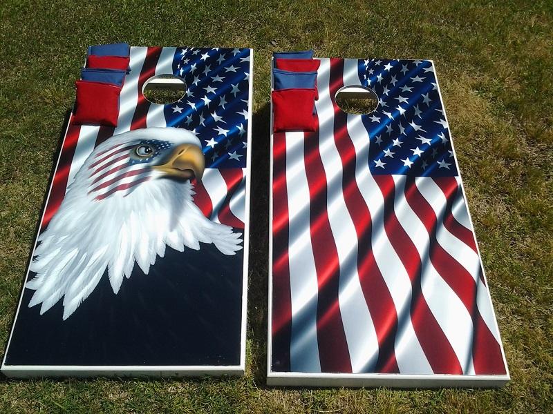 American Pride Custom Cornhole Boards