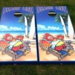 Beach Life Cornhole Boards