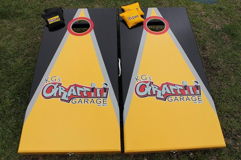 Graffiti Garage Cornhole Boards