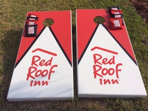 Cornhole Boards are custom made for Red Roof Inn