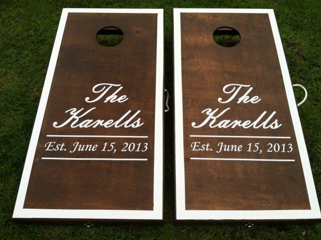 Custom Cornhole Boards for Your Wedding Day!