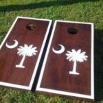 Wood Stained Custom Cornhole Boards