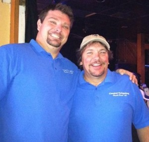 Coastal Tailgating staff are cornhle fun experts!