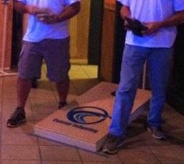 Cornhole tournament players in Myrtle Beach