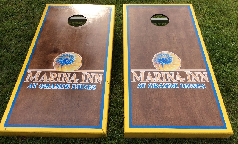 Marina Inn Cornhole Boards