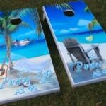 A pirate life for me - custom cornhole boards