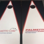 We made cornhole boards for Palmetto!