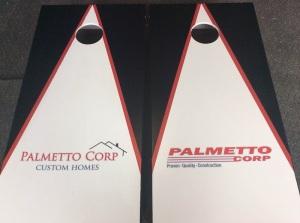 We made cornhole boards for Palmetto!