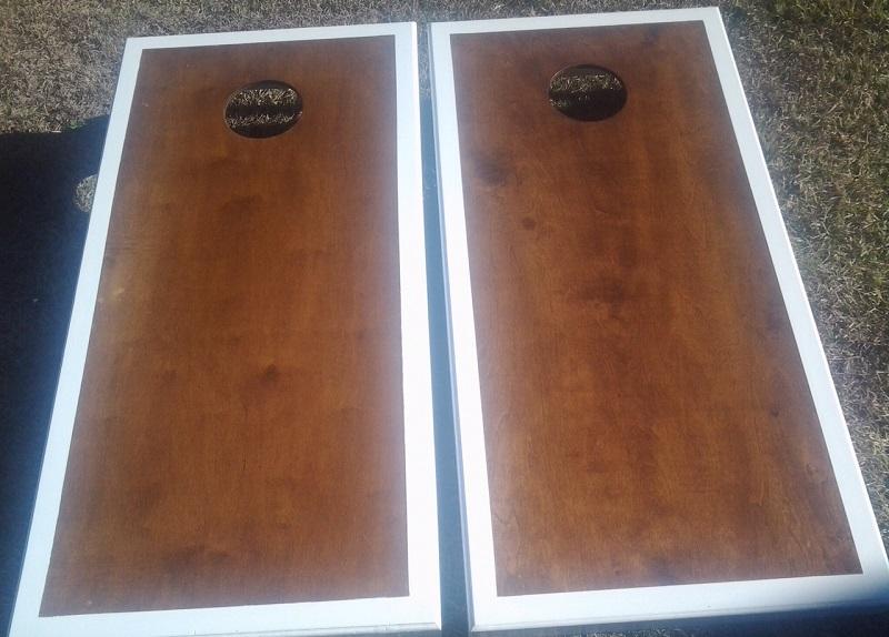 Cornhole Board Set Wood Grain Samples