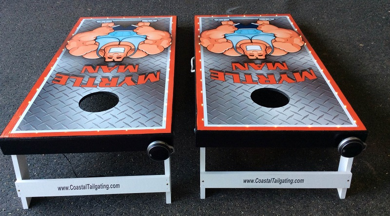 Cornhole Boards made by Coastal Tailgating have Bluetooth technology for sound