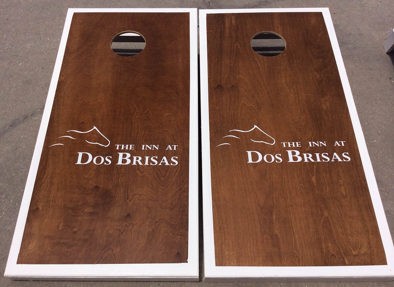 Custom Cornhole boards for your bed and breakfast or inn