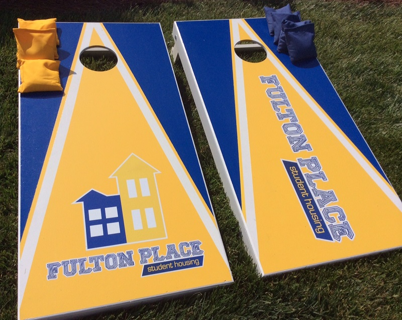 Coastal Tailgating Cornhole Boards for Business