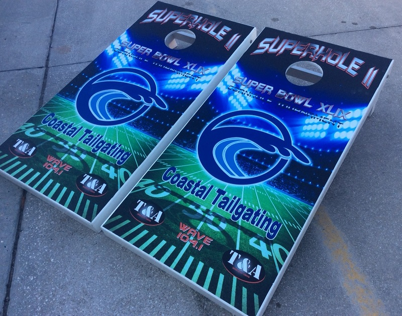 Coastal Tailgating Cornhole Boards