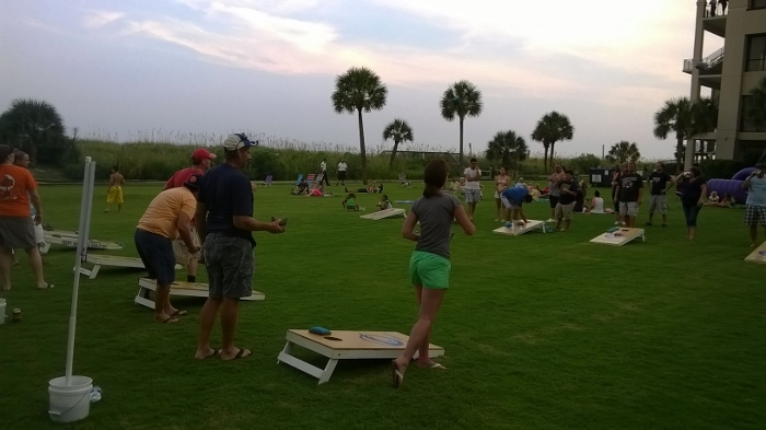 Springmaid Beach Resort Cornhole Tournament in Myrtle Beach