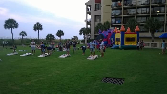 Springmaid Beach Resort Cornhole Tournament in Myrtle Beach
