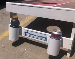 A new bottle holder design for our Coastal Tailgating Cornhole Boards