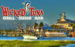 Cornhole tournament at Wicked Tuna