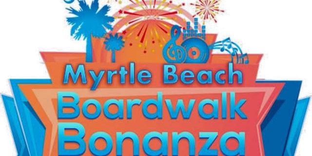 Boardwalk in Myrtle Beach and Cornhole