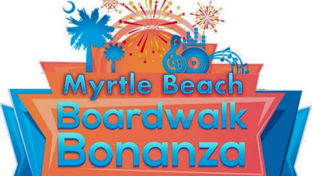 Boardwalk in Myrtle Beach and Cornhole
